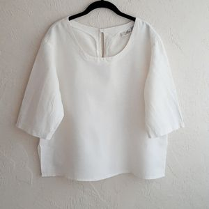 Vintage Linen 3/4 Sleeve Lithuanian Blouse XL